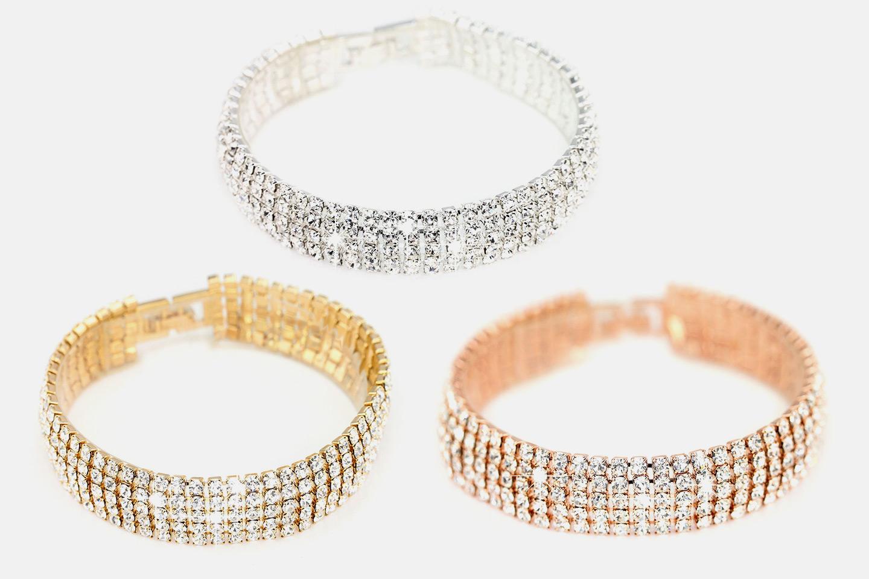 Pave armbånd med Swarovski-krystaller (1 av 4)