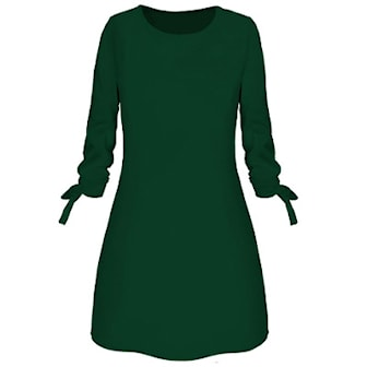 Grön, 3XL, Round Neck Dress, Klänning med rund hals, ,