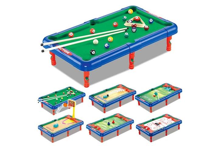 7-i-1 Mini Biljardbord, 7 st olika spel att välja mellan