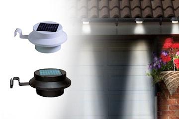 3-pack utendørs solcellelamper