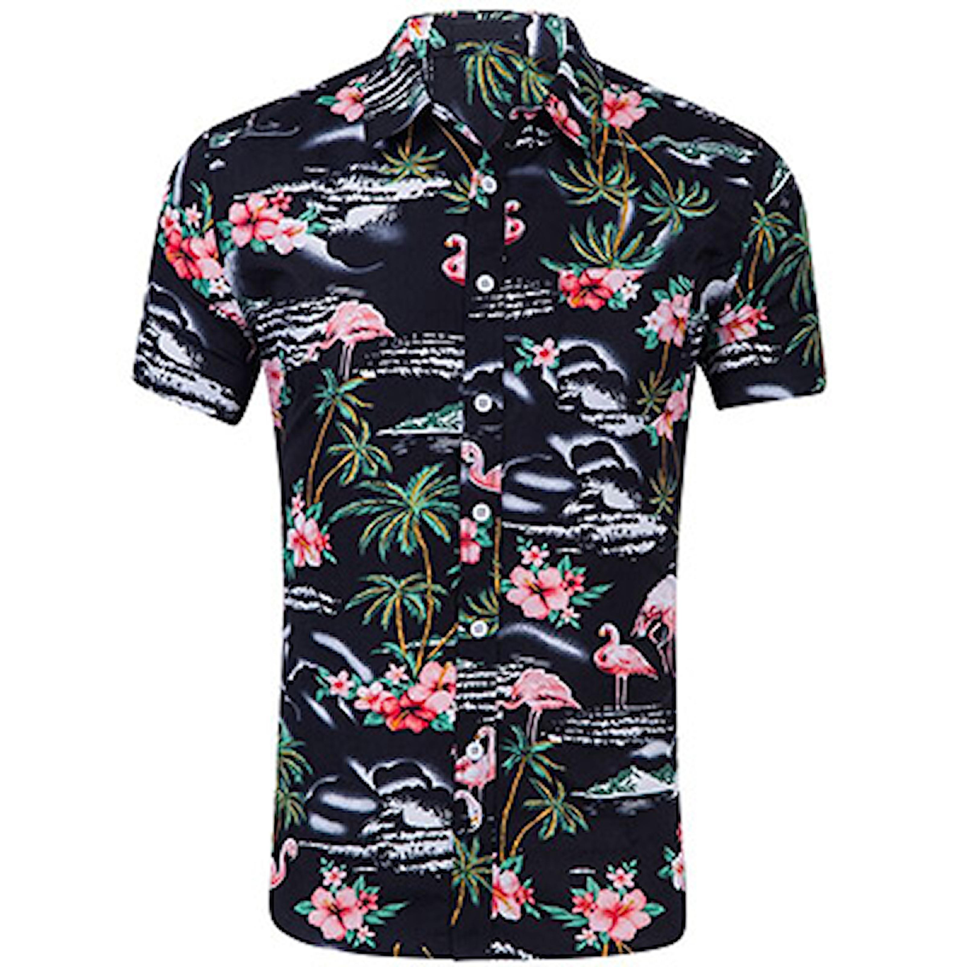 Svart, S, Hawaii Shirt For Men, Hawaii skjorte, ,