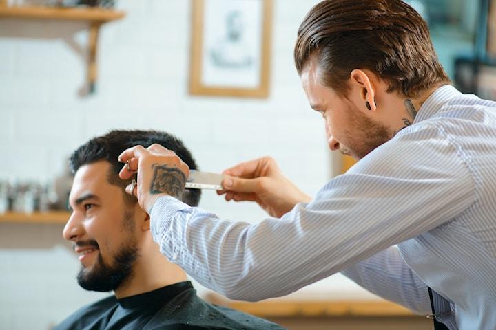 Herrklippning med/utan klippning av skägg samt tvätt