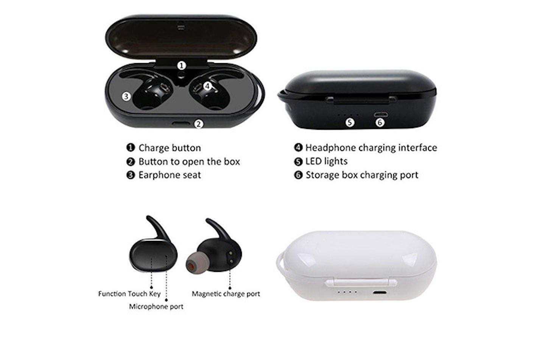 Trådløse øretelefoner med Bluetooth V5.0