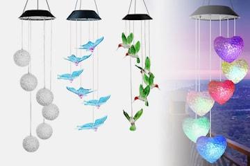 Solcellsdriven vindklocka med LED