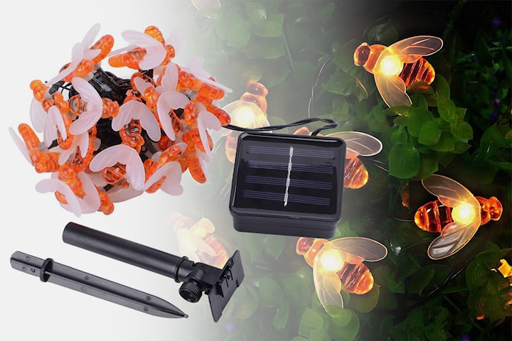 Solcellslampa med LED-bin