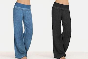 Vide bukser i jeans-design
