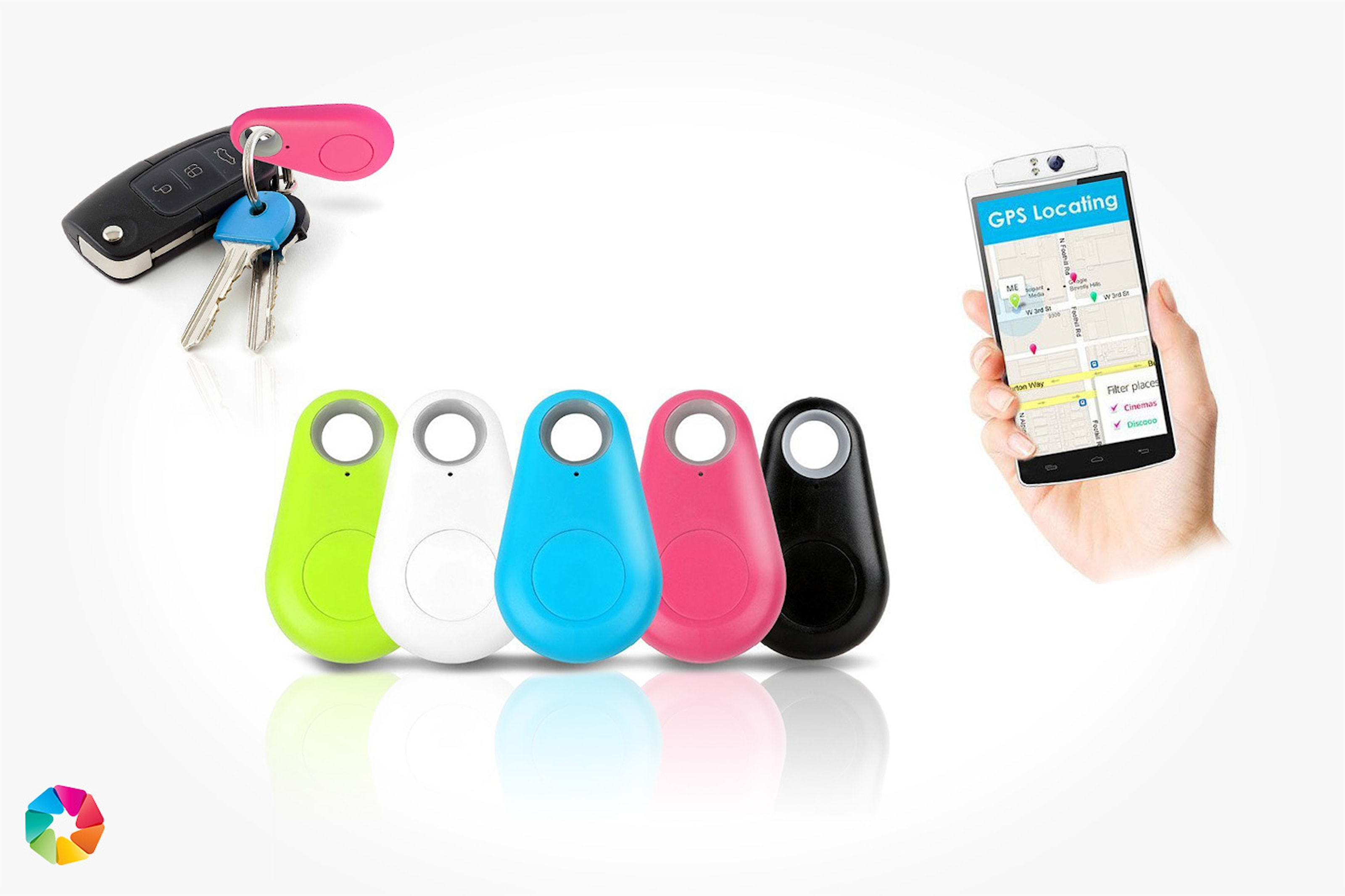 App-styrd Bluetooth-tracker