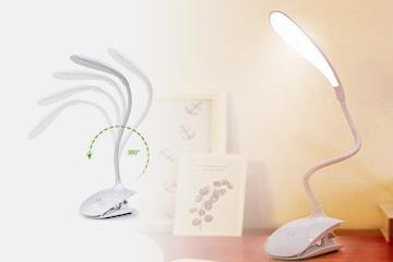 Trådløs LED-lampe med klemme