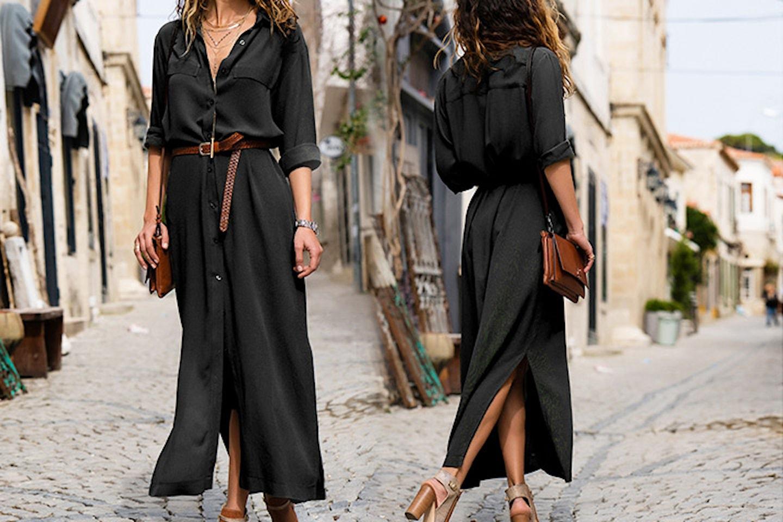 Skjortklänning med bälte
