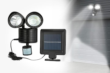 LED-lampa med solpanel
