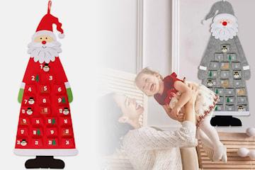 Stor julkalender i jultomtedesign
