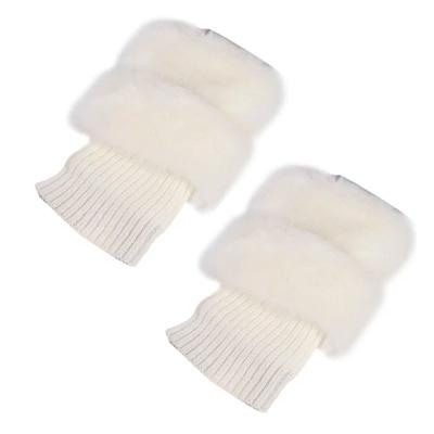 Vit, Knit Leg Warmers, Fluffiga benvärmare,  (1 av 1)