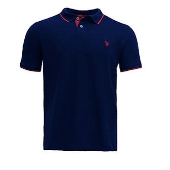 Marineblå, S, US Polo Short Arm Shirts, Piquetskjorter fra U.S. Polo Assn,