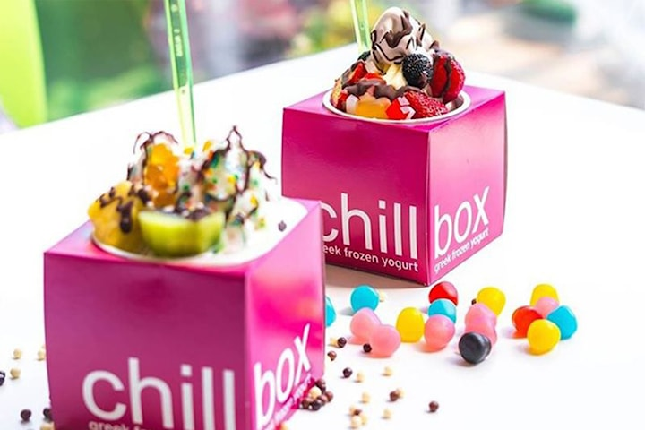 Frozen yoghurt på Chillbox