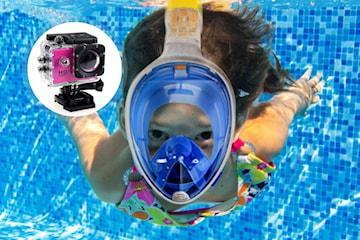 Snorkel och 1080p HD-actionkamera