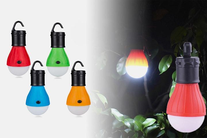 Batteridriven campinglampa