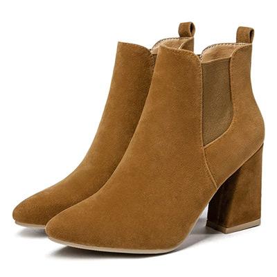 Brun, 38, Round Toe Casual Boots, , ,  (1 av 1)