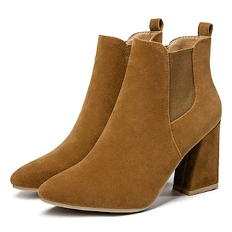 Brun, 38, Round Toe Casual Boots, , ,