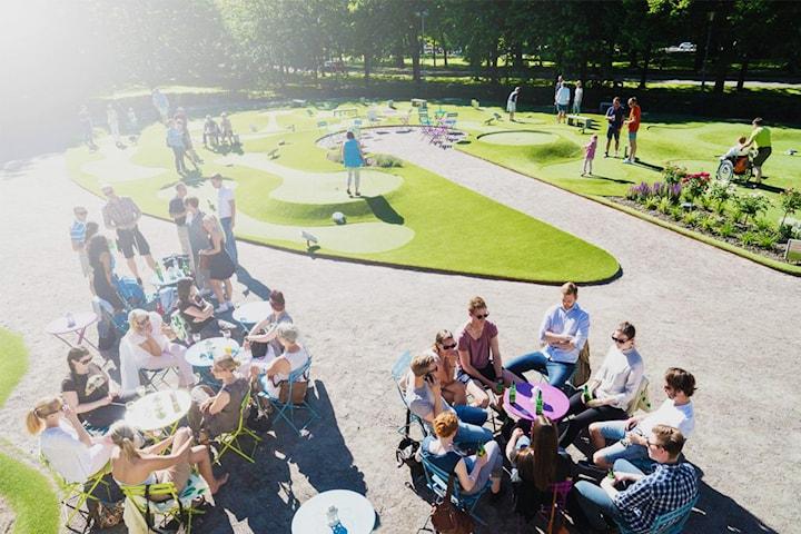 Minigolf hos Golf och Bar Allén
