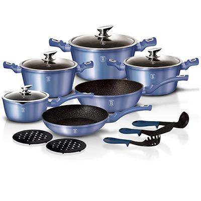 Blå, 15 pcs Cookware Set from BerlingerHaus, Kastrull-set med turboinduktion, ,  (1 av 1)