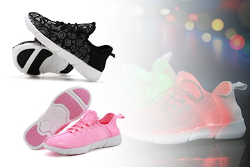Fete sneakers med LED-lys