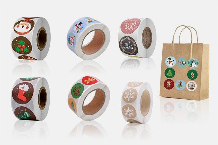 Stickers med julmotiv 500 st