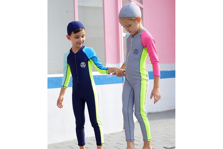 UV-dräkt och mössa för barn