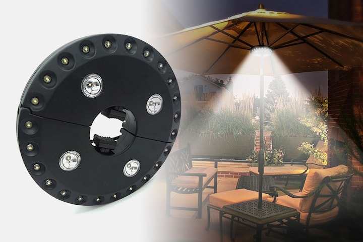 LED-belysning till parasoll