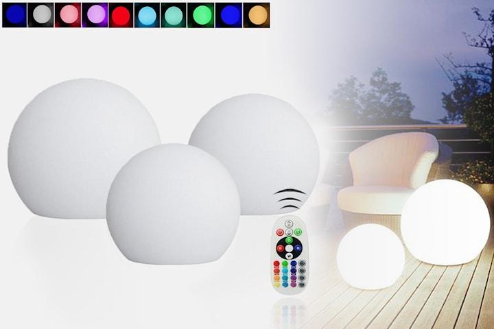 Ballformet utendørs lampe med fjernkontroll