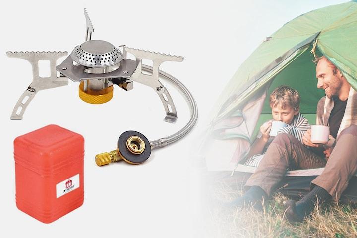 Sammenleggbar gassovn for camping