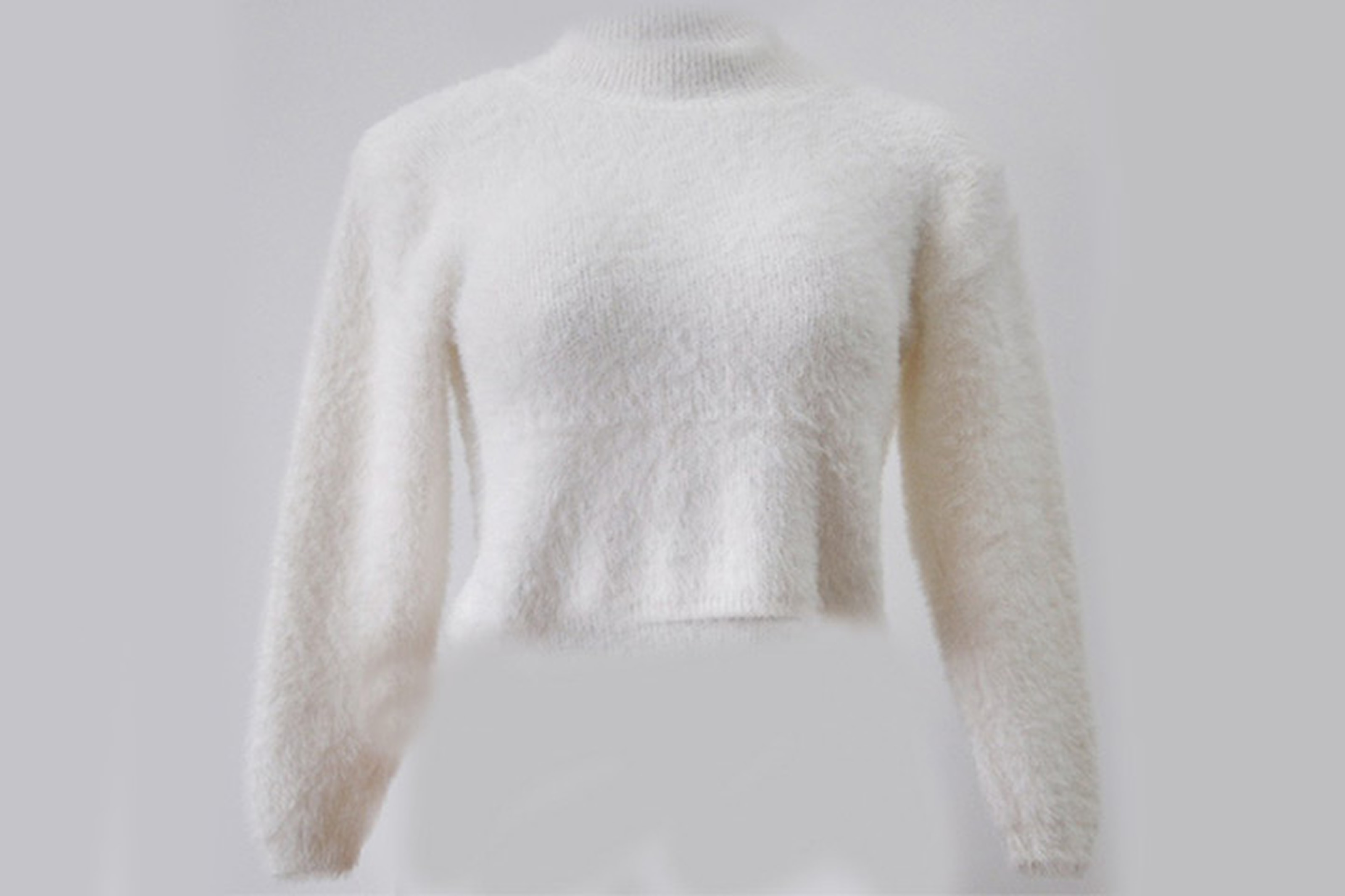 Trendig mohair-tröja