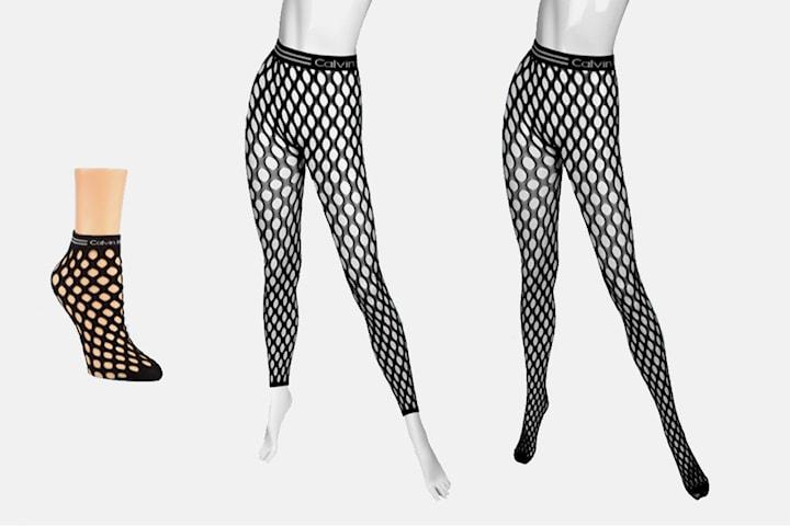 Calvin Klein nettingstrømper og sokker