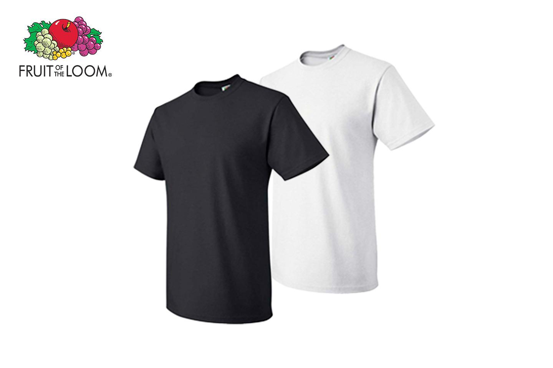 6 pack t skjorte fra Fruit of the Loom | Tilbud, rabattkoder