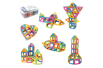 Magnetisk Byggsats med Klistermärken, 60 delar