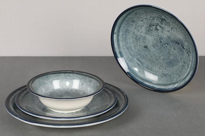 Hermia Stone Blått middagsset, 24 delar