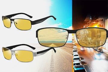 Polariserte briller for dag og natt