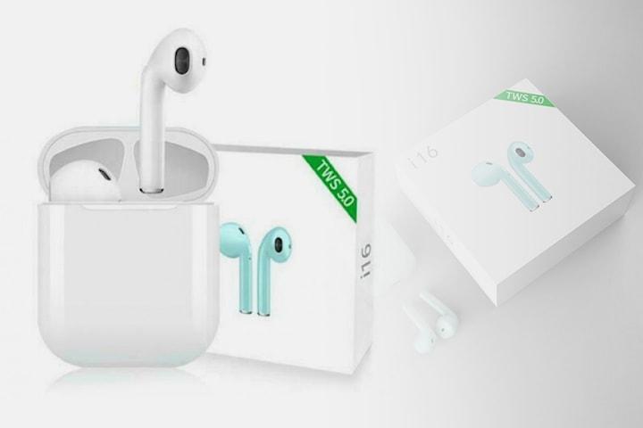 i16s trådlösa hörlurarmed Bluetooth 5.0