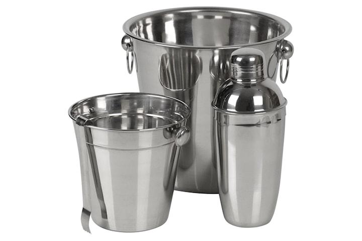 Cocktail Sett - Shaker, Istang og 2 Isbøtter