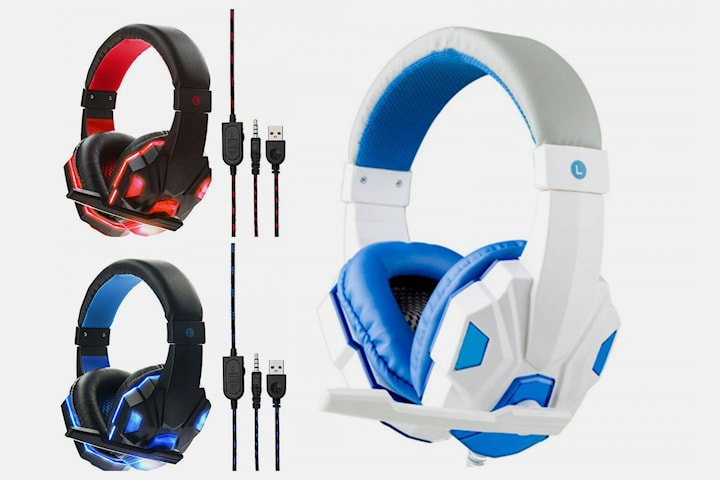 Gaming headset med stereolyd