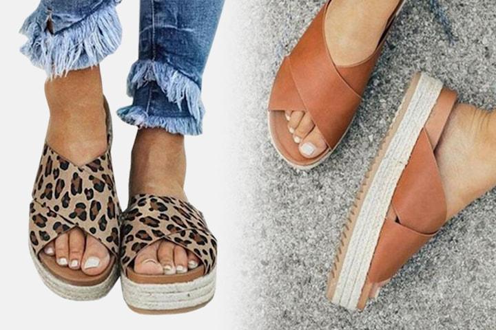 Sandaler med hög sula