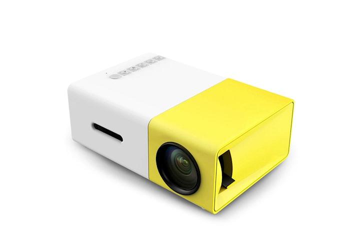 Portabel LED Projektor - Hvit og Gul