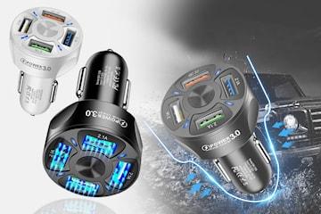4-port USB-lader til bil