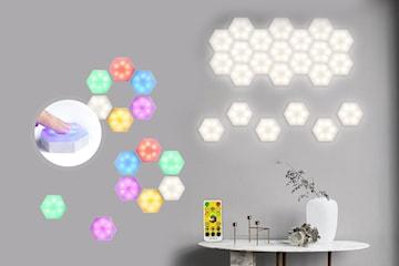LED-vägglampa hexagon 2, 4 eller 6 lampor