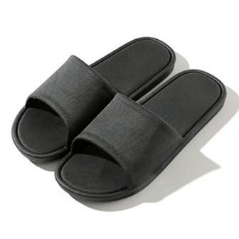 Svart, 36/37, Unisex Anti-Skid Shower & Bathing Slippers, Tofflor med anti slip-funktion, ,