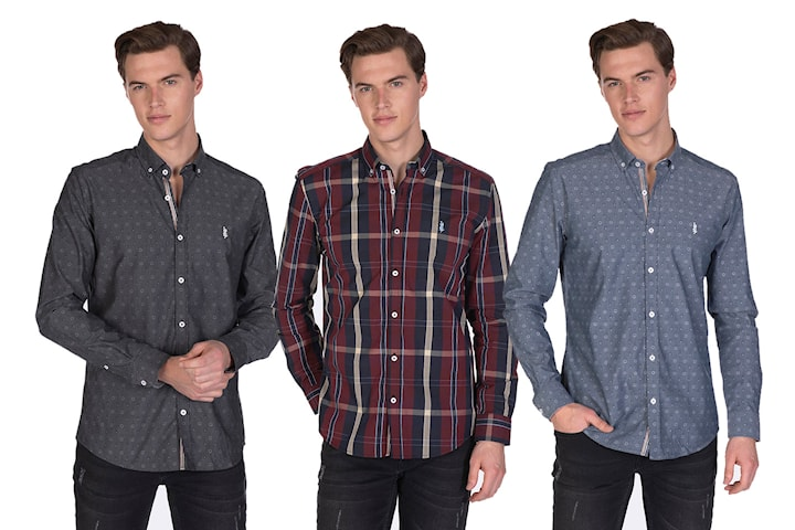 Javier Larrainzar mønstret skjorte