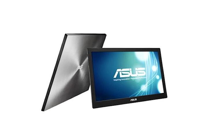 """Asus bärbar LCD MB168B 15,6 """", TN, HD-klar, 1366 x 768 pixlar, 11 ms, 200 cd/m², Svart, Silver, USB 3.0, USB-driven, Ultratunn, Auto-roterbar"""