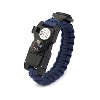 Blå, Sos Survival 14 in 1 Multifunction Bracelet, Överlevnadsarmband 14-i-1, ,