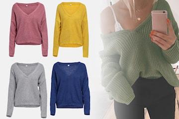 Strikket genser i damemodell