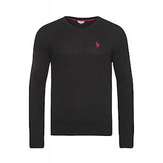 Svart, L, US Polo V-Neck Pullover, US Polo V-Neck pullover, ,