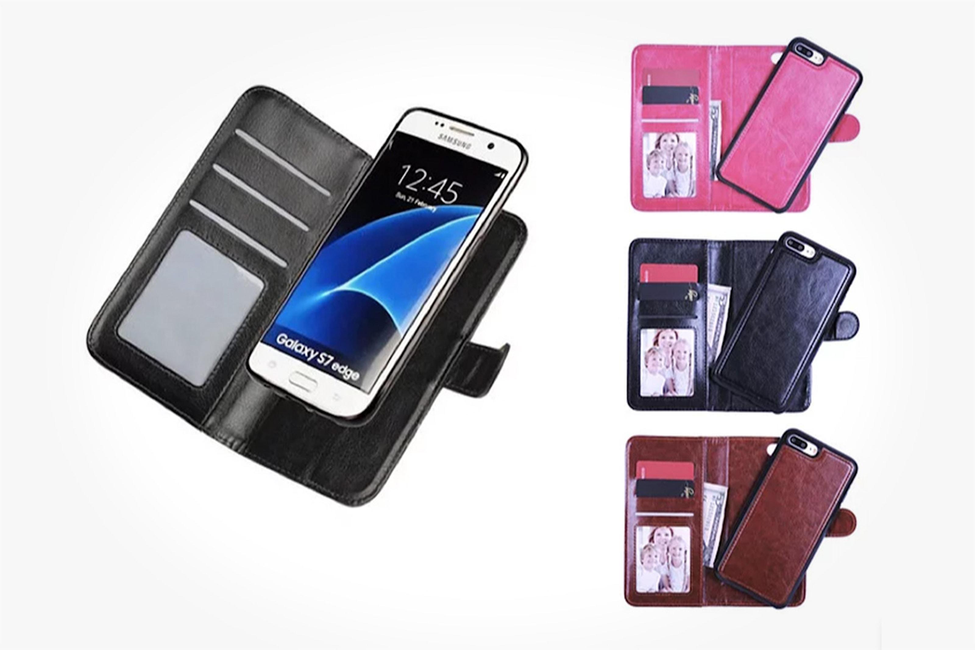 Magnetiskt plånboksfodral för mobilen